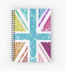 Distressed Col Union Jack/Flag I Spiral Notebook