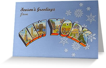 Seasons greetings from new york greeting cards by reapolo redbubble seasons greetings from new york by reapolo m4hsunfo