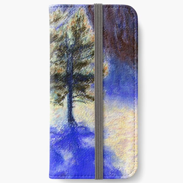 Three Pines. Snow in Virginia iPhone Wallet