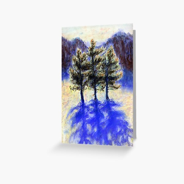 Three Pines. Snow in Virginia Greeting Card