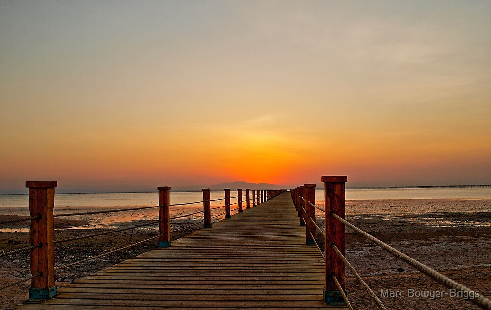 Jetty Sunrise - HDR by Marc Bowyer-Briggs