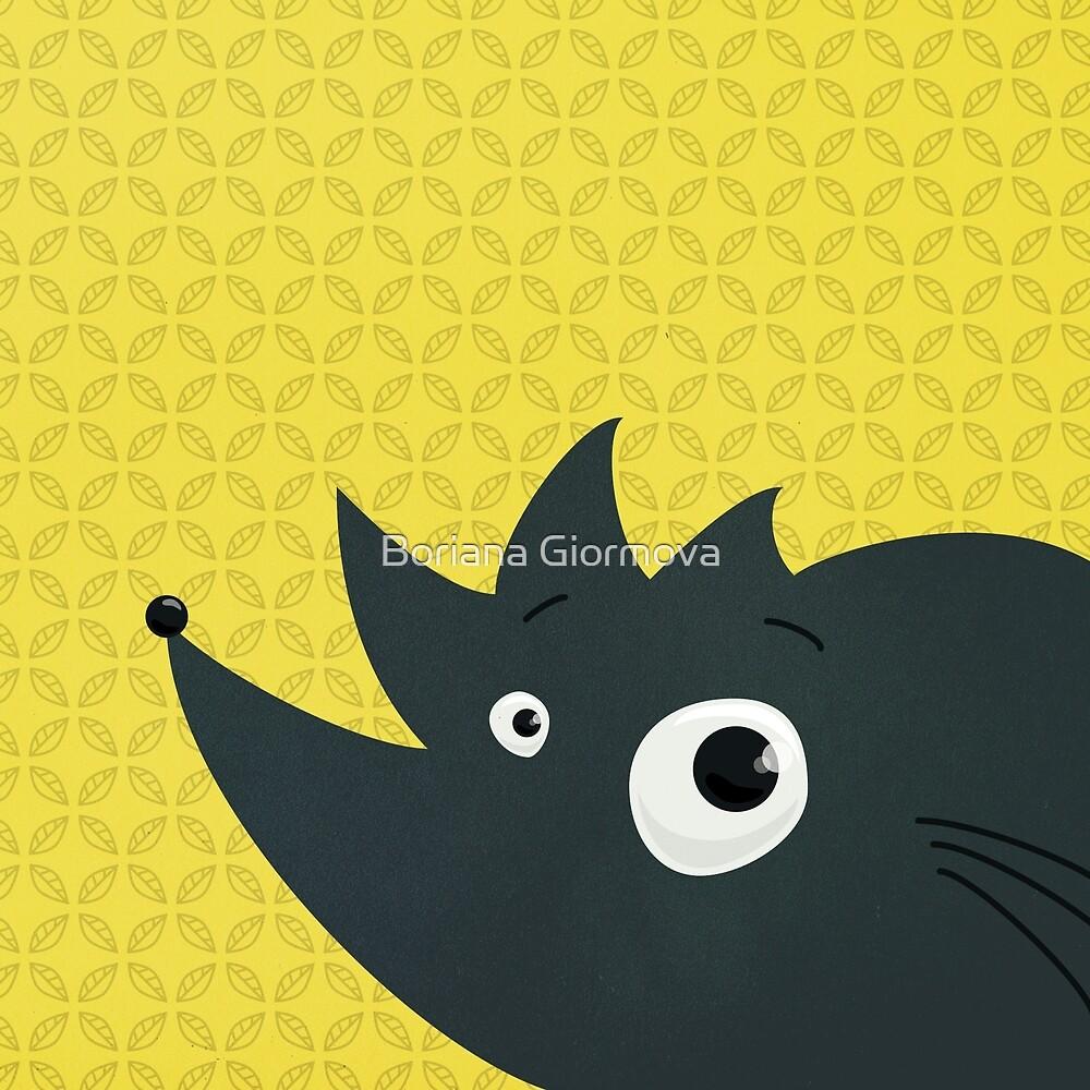 Cute Cartoon Hedgehog by Boriana Giormova