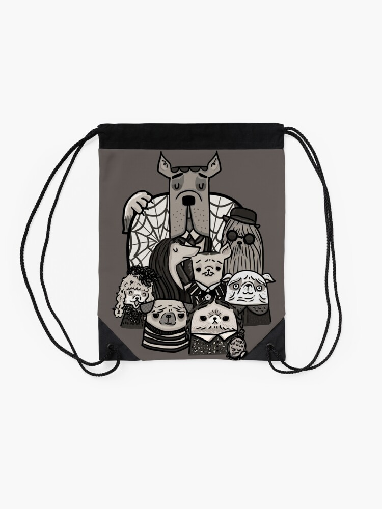 Alternate view of The Addams Family Drawstring Bag