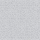 Cute Silver and White Polka Dots by itsjensworld