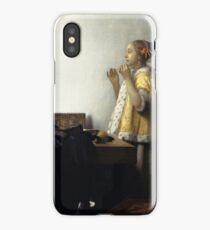 Young Woman with a Pearl Necklace 1662 Johannes Vermeer iPhone Case/Skin