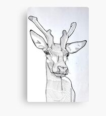 Fine Liner Deer Canvas Print