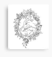Fine liner Fox Canvas Print
