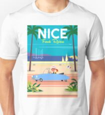 NIce-French Riviera poster T-Shirt