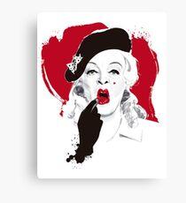 Baby Jane lipstick Canvas Print
