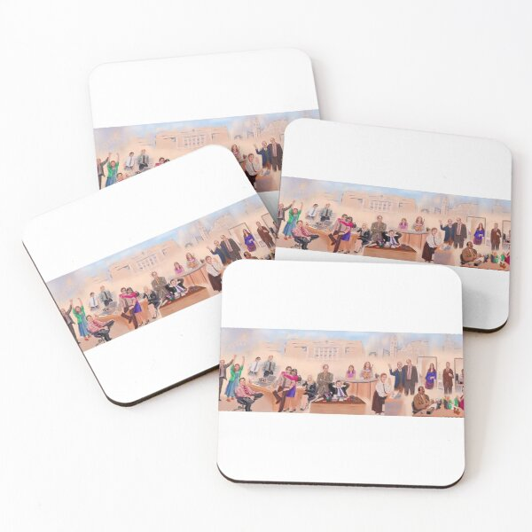 The Office Cast Mural Coasters (Set of 4)