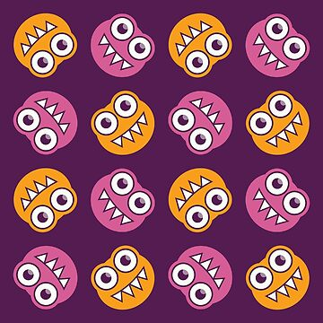 Purple Pink And Orange Cute Bugs Pattern by azzza