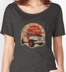 4x4 on Isla Nublar Rond Women's Relaxed Fit T-Shirt