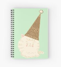 Holiday Ice Cream Cat Spiral Notebook