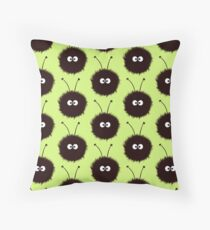 Green Cute Dazzled Bugs Pattern Throw Pillow