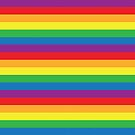 Gay Pride Colors - Ranbow Flag - Rainbow Stripes by ShowYourPRIDE