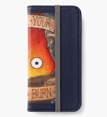 Studio Ghilbi Illustration: CALCIFER #3 iPhone Wallet/Case/Skin