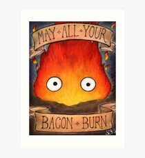Studio Ghilbi Illustration: CALCIFER #3 Art Print