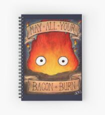 Studio Ghilbi Illustration: CALCIFER #3 Spiral Notebook