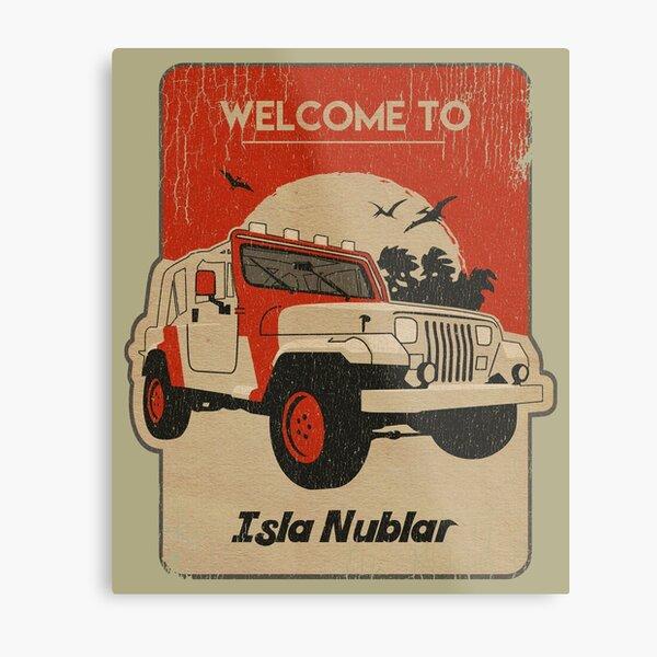 4x4 on Isla Nublar Square Metal Print