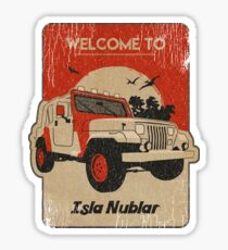 4x4 on Isla Nublar Square Sticker