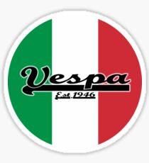 Team Vespa - Italian Flag Round Sticker