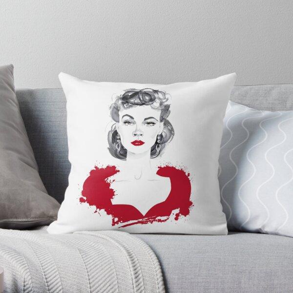 Burgundy or Scarlett Throw Pillow