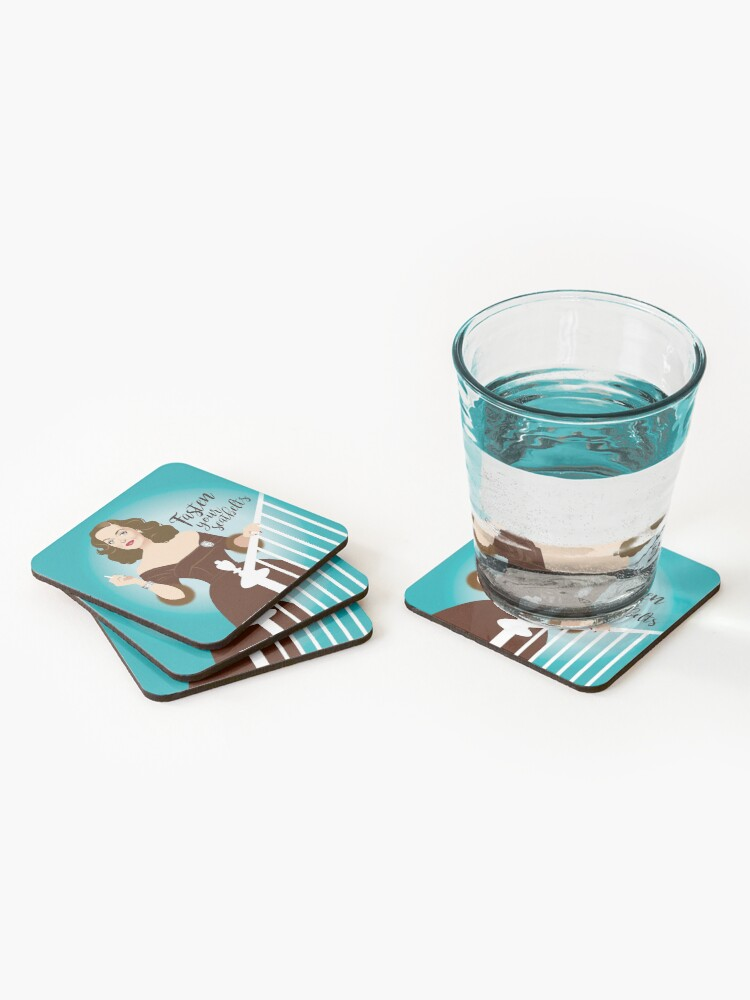 Alternate view of Fasten your seatbelts Coasters (Set of 4)