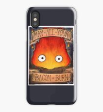 Studio Ghibli Illustration: CALCIFER #2 iPhone Case
