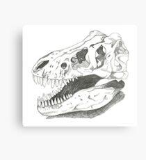 Trex skull Canvas Print