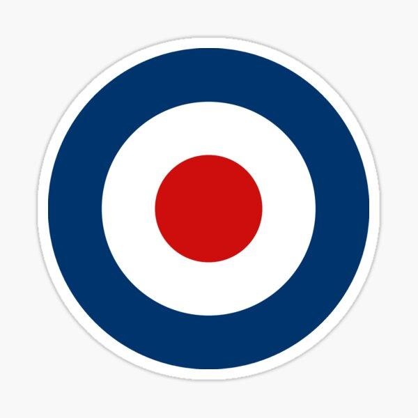 Classic Scooterist MOD Target - High Quality - RAF Roundel Sticker