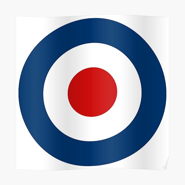 Classic Scooterist MOD Target - High Quality - RAF Roundel Poster