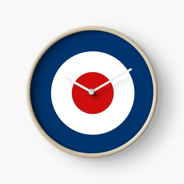 Classic Scooterist MOD Target - High Quality - RAF Roundel Clock