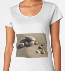 Stones on the beach and relax Women's Premium T-Shirt