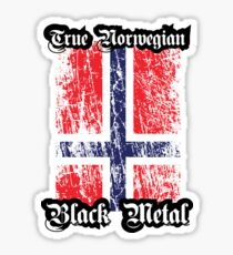 True Norwegian Black Metal - Norwegian Flag Edgewise Sticker