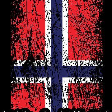 True Norwegian Black Metal - Norwegian Flag Edgewise by Skady666