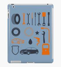 Garage car mechanic tool pattern iPad Case/Skin