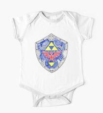 Body de manga corta para bebé Zelda - Link Shield Doodle