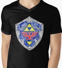 Zelda - Link Shield doodle Men's V-Neck T-Shirt