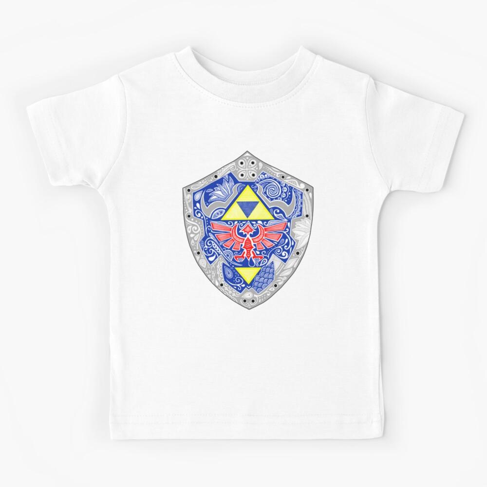 Zelda - Link Shield Doodle Camiseta para niños