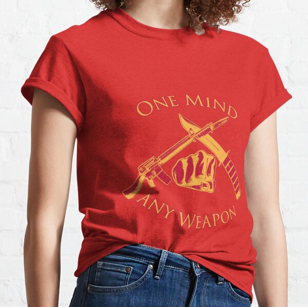 One Mind Any Weapon - US Marine Corps Martial Arts (MCMAP) - USMC Yellow/Red Classic T-Shirt