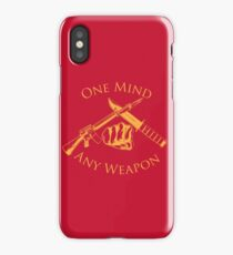 One Mind Any Weapon - US Marine Corps Martial Arts (MCMAP) - USMC Yellow/Red iPhone Case/Skin