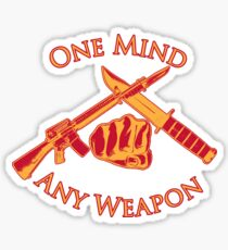 One Mind Any Weapon - US Marine Corps Martial Arts (MCMAP) - USMC Yellow/Red Sticker
