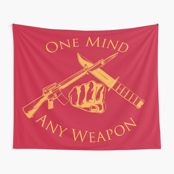 One Mind Any Weapon - US Marine Corps Martial Arts (MCMAP) - USMC Yellow/Red Tapestry