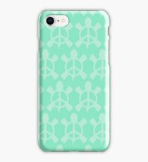 Peace Turtle (Sea foam) iPhone Case/Skin