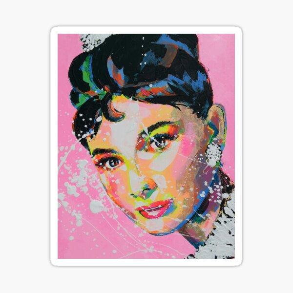 Audrey Hepburn Artpainting Sticker