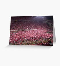 Ohio State vs. Michigan - Nov. 2006 - The victory!  Greeting Card