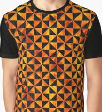 TRIANGLE1 BLACK MARBLE & FIRE Graphic T-Shirt