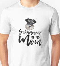 Dog Breed Schnauzer Mom T-Shirt