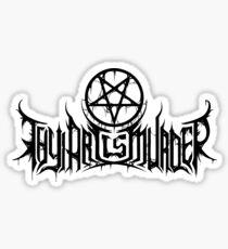 Band Thy Art Is Murder Logo White (2015 Version) Sticker