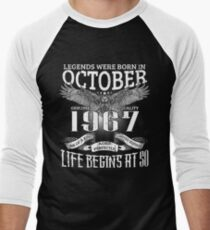 50th Birthday Gift Legends Were Born In October 1967 T-Shirt